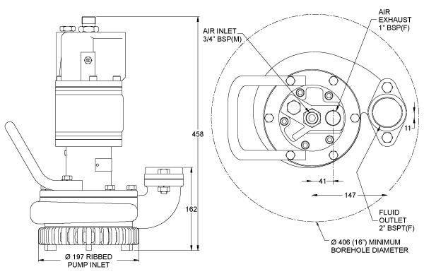 AP50 Submersible Centrifugal Pump   Blagdon Pump